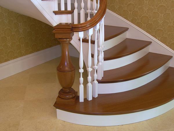 modern tasarım ahşap merdiven