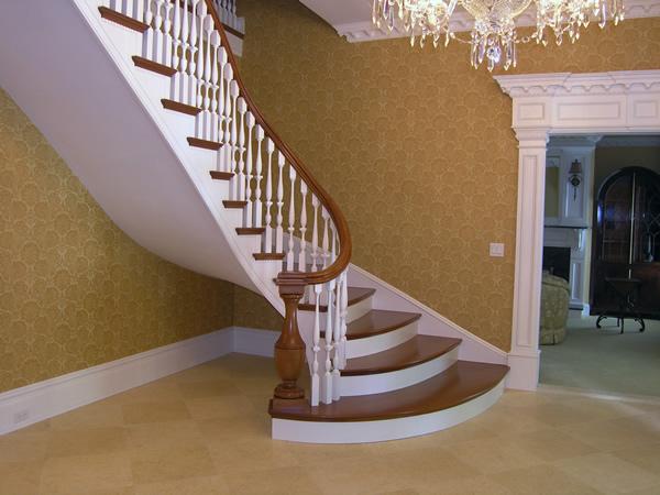 villa merdiveni ahşap