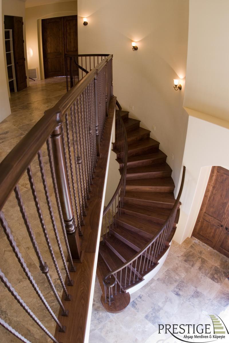 renkli meşe merdiven